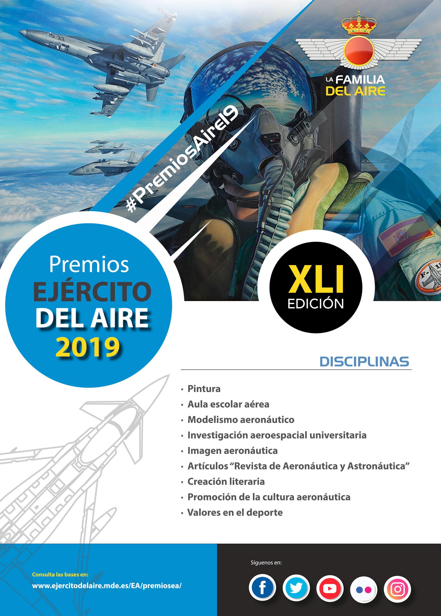 Cartel Premios Ejército del Aire 2019